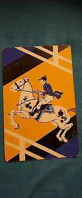 Vintage Playing Swap Card Horses  Lot 52 is Linen Stock.