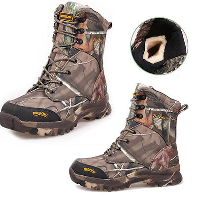 Men's Tactical Military Deployment Ankle Boots Camo Fleeces Hiking Hunting Shoes