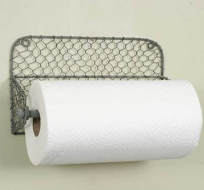 NEW! Chicken Wire Wall Paper Towel Holder / Country Farmhouse Primitive