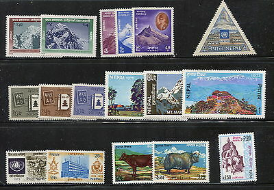 Nepal - complete sets  - see scan -   MNH  F402