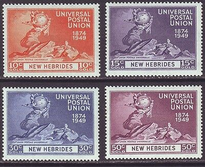 New Hebrides British 1949 SC 62-95 MNH Set UPU