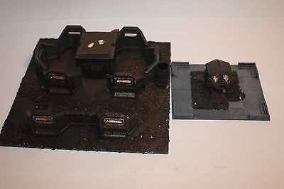 Warhammer 40k Scenery Defence Line and Heavy Flamer Turret