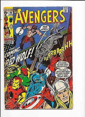 Marvel Comics Avengers Issue No 80 VG? 1st Red Wolf