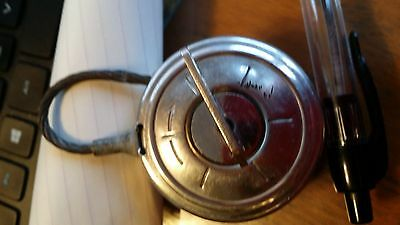 Vintage Rare Cable Lock 1960 key Gossner Cable Lock Inter Pacific San Francisco