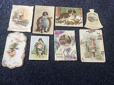 Victorian,edwardian Era,xmas & New Year Greeting Cards,  Nice Old Lot.