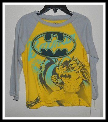 Nwt Dc Comics Batman Long Sleeve Yellow Shirt Top Boys Size 3T