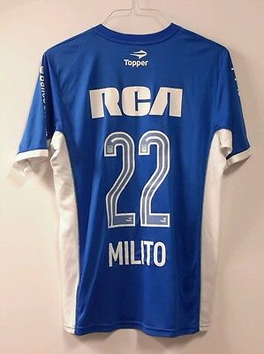 Racing Avellanede Diego Milito  #22 MATCH WORN ISSUED SHIRT MAGLIA TOPPER  2015