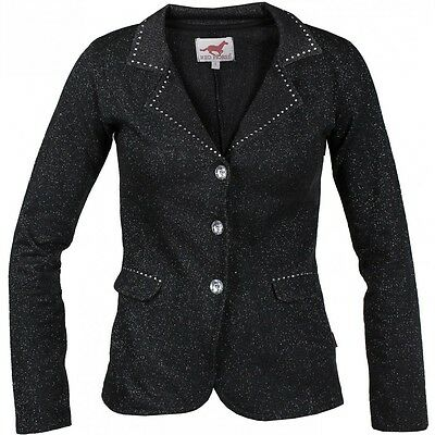 Horka Pirouette Competition Jacket Black  Sparkly Bling Childrens Show Jacket