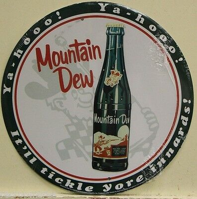 "MOUNTAIN DEW hillbilly 12"" metal sign vintage style mountain dew bottle MD-03"