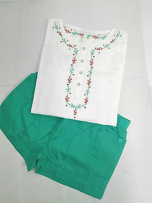 CdeC Shirt And Shorts India Set Ocean White Green Size 8 Year  RRP £ 50