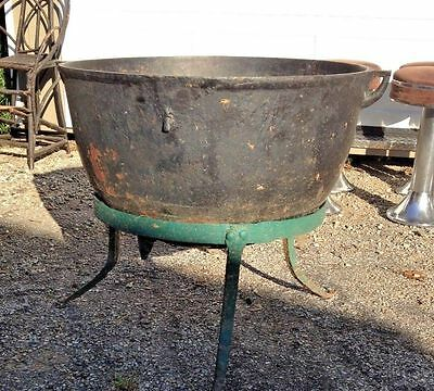 Cast Iron Antique Kettle With Stand-Great Shape