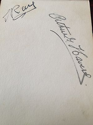 Arthur Havers And Ted Ray Autographs British Open 1929