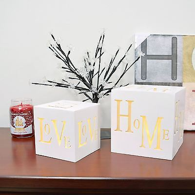 3 Led Home And Love Christmas Decoration Light Xmas Light Up Love Home Box Cube