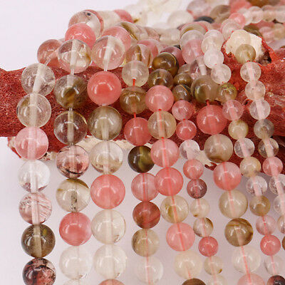 "15"" Colorful Natural Quartz Agate Gemstone Stone Round Spacer Loose Beads 6mm"