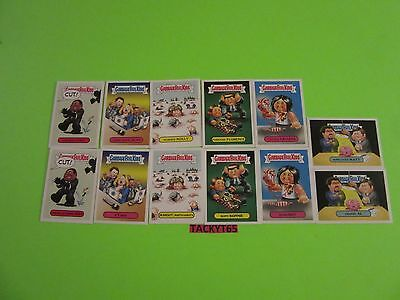2016  GARBAGE PAIL KIDS  TRASHY TV SERIES 2 CRIME TV SERIES STICKER SET 1-6a/1-6