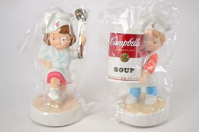 Lot of 2 Campbells Soup Porcelain Figurines Boy/Girl - #R-01-001