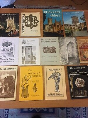 Lot Of 13 Cathedral And Church Guide Books. Buckfast Abbey Canterbury Malvern