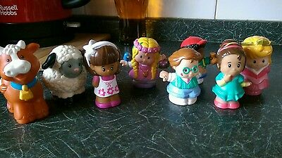 8 fisher price Little people figures