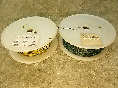 24 AWG stranded hookup Wire,  2 spools 1000 FT each. Lot