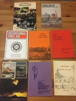 Lot Of 8 Travel &Guide Books. Cotswold Beamish First Aid Essex Regiment Felsted
