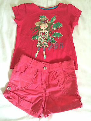 Girls Pink Summer Set with Short and T-shirt 3/4Years