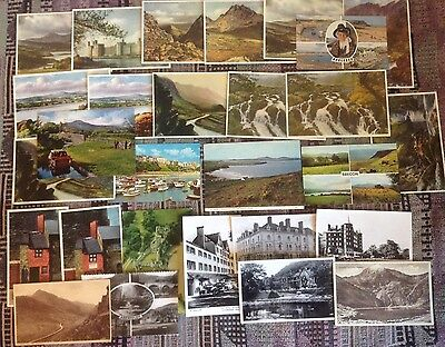 Postcards of Wales,!940s - 70s