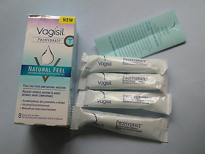 New Vagisil ProHydrate Natural Feel Internal Moisturizing Gel 4 ea