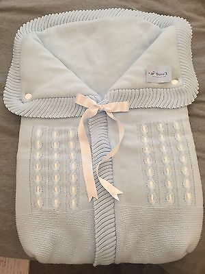Gorgeous Knitted Blue Pram Cosy