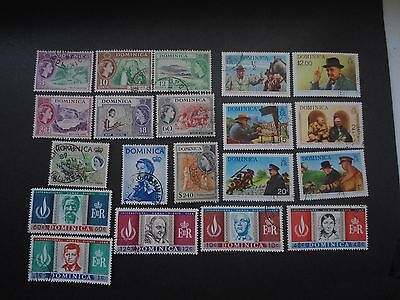 Dominica,fine Used Lot Of 20 From 1954-1968, Very Nice $2.40 From From 1954 Set