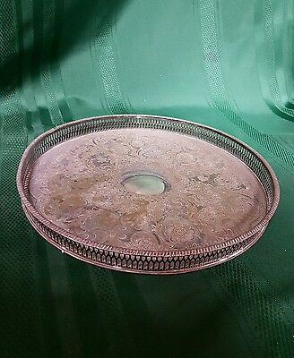 Viners of Sheffield Alpha Plate Chased Serving Tray, 32cm
