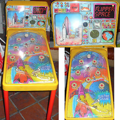 FLIPP FLOP FLIPPER SPACE ELECTRIC GAME PINBALL Vintage 70s