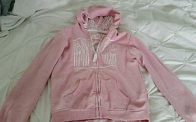 Girls pink hoody 12-13yrs