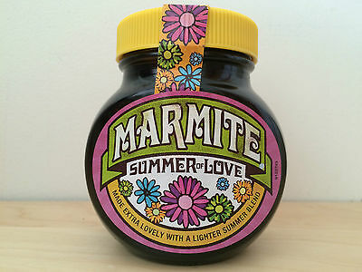 Collectable New Sealed Marmite Limited Edition Summer Of Love jar