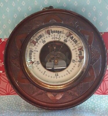 Vintage Wall Barometer Fine Weather Instrument.