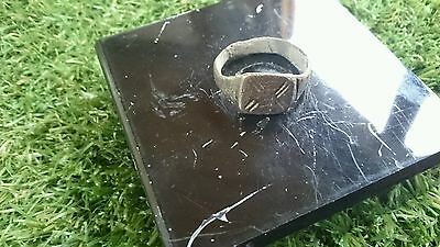 Roman Bronze ring professionaly cleaned on outside in showing patina wearable