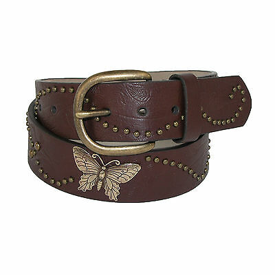 New Rogers-Whitley Girls' Vintage Floral Print Belt with Butterfly Conchos