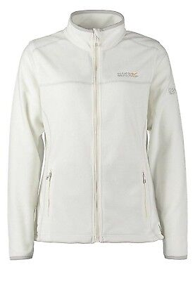Regatta Floreo II Womens Anti Pill Zip Through Symmetry Fleece Jacket White 16