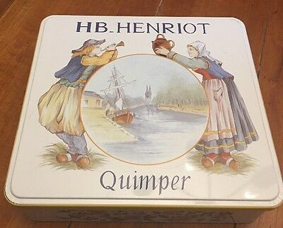 Massilly France Hb Henriot Quimper Tin Container