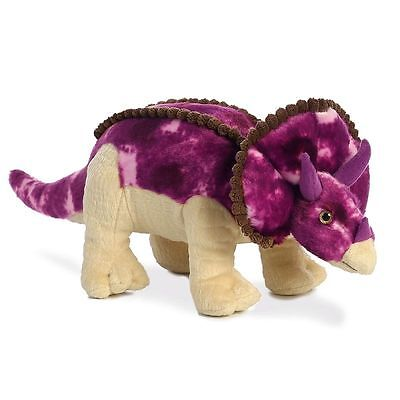 "Triceratops 14"" Plush Soft Toy Dinosaur Brand New With Tags Aurora Great Gift"