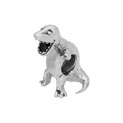 Triceratops dinosaure lourd 3D .925 Solid Sterling Silver Charm Pendentif Usa Made