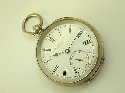 L. Riedlinger & Sons pocket watch antique silver case spares or repairs Plymouth