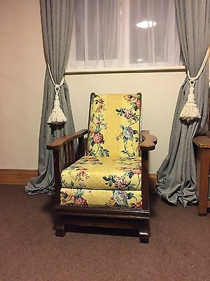 1930s Spring Loaded Reclining Armchair