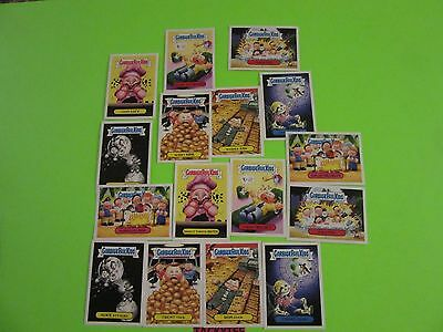 2016 GARBAGE PAIL KIDS  TRASHY TV SER 2 SYNDICATED TV SERIES  STKR SET 1-8a/1-8b