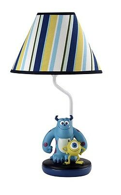 Disney Lamp and Shade. Monsters Inc Sulley & Mike.