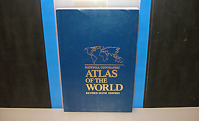 """HUGE 18"""" X 12""""~National Geographic Atlas of the World Revised 6th Edition"""