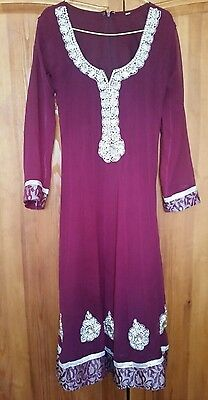 Purple Anarkali Suit Size 36 (8-10) Indian/ Pakistani Dress bollywood party