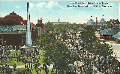 Canadian National Exhibition Looking West From Grandstand - 1930s Postcard