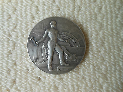 Rare - Vintage Silver Plated Bronze Medal France - Lucien Coudray - Signed