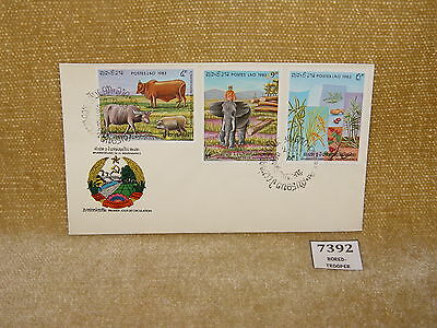LAOS POSTE LAO 80TH ANNIVERSARY OF INDEPENDENCE FIRST DAY COVER 3v 1983 FDC  99p
