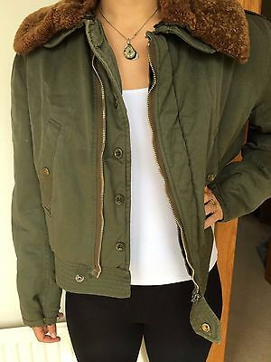 Vintage Green Bomber Jacket